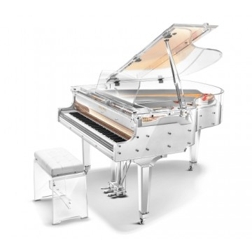 Kayserburg Limited Edition GH160YJ Crystal Transparent Grand Piano