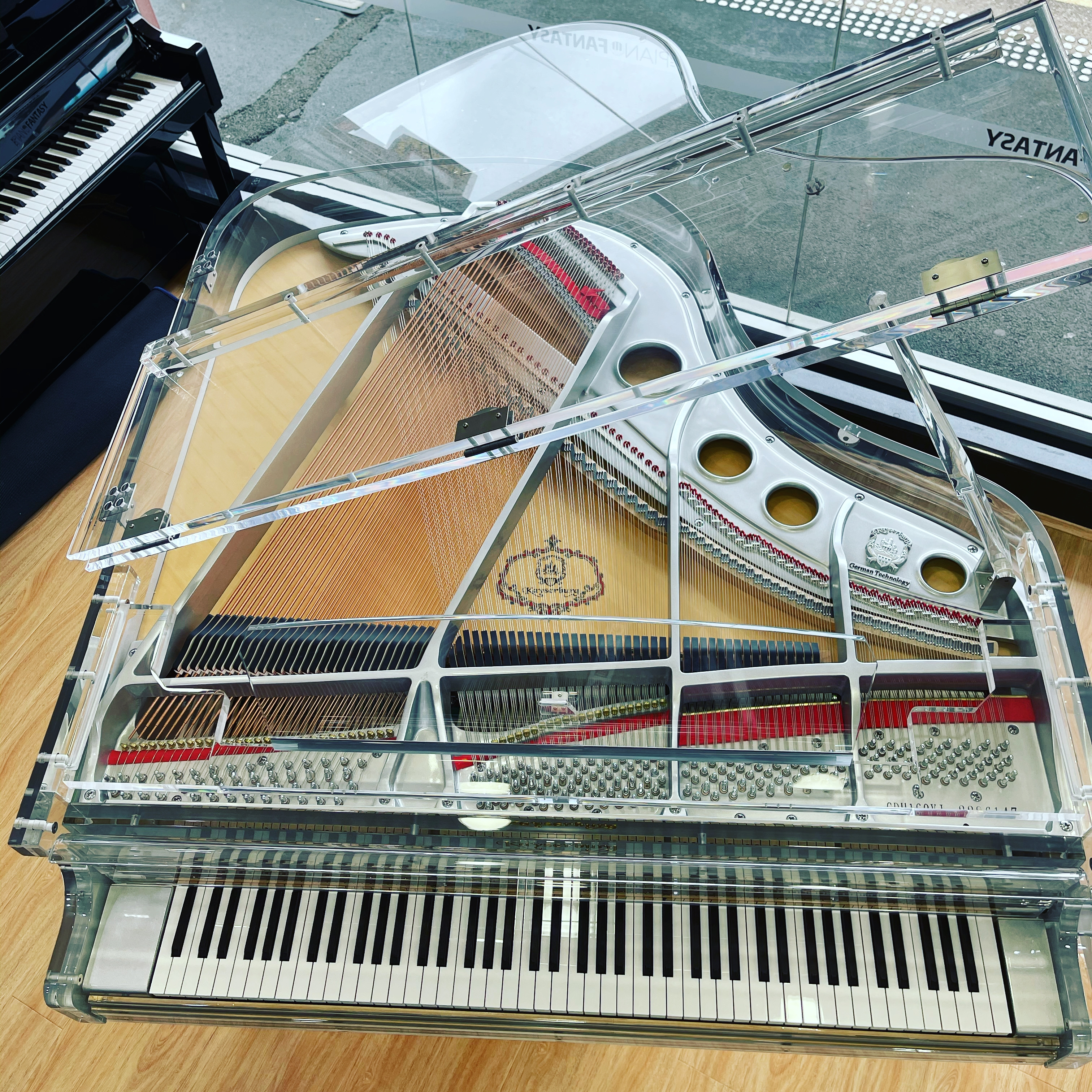 Kayserburg Crystal Grand Piano with Prodigy Self-Playing System